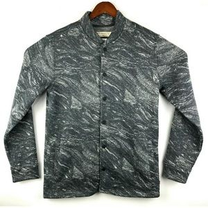 Levis Jacket Sweater Button Gray Camouflage